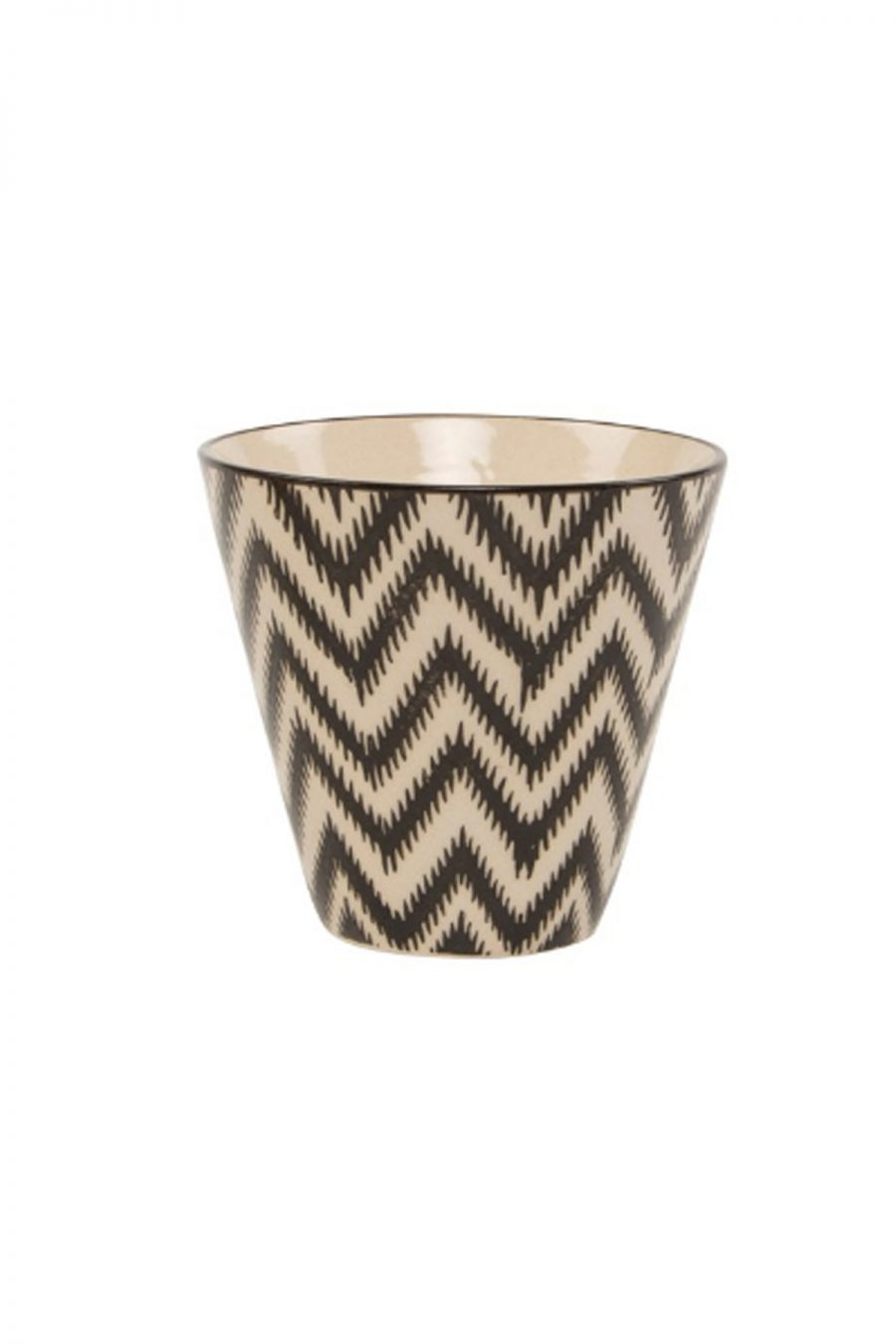 Chevron small pot