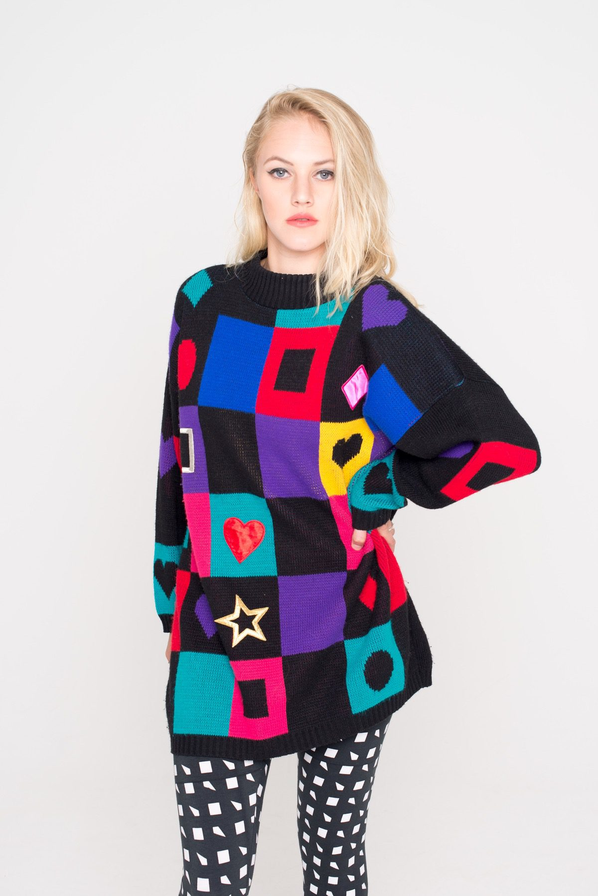 536d0f0eedfd Colourful Patterned Vintage Jumper - That Thing