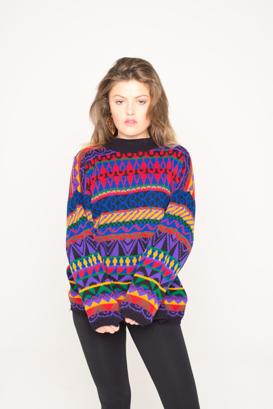5052ac9fc8cb Abstract Patterned Vintage Jumper - That Thing