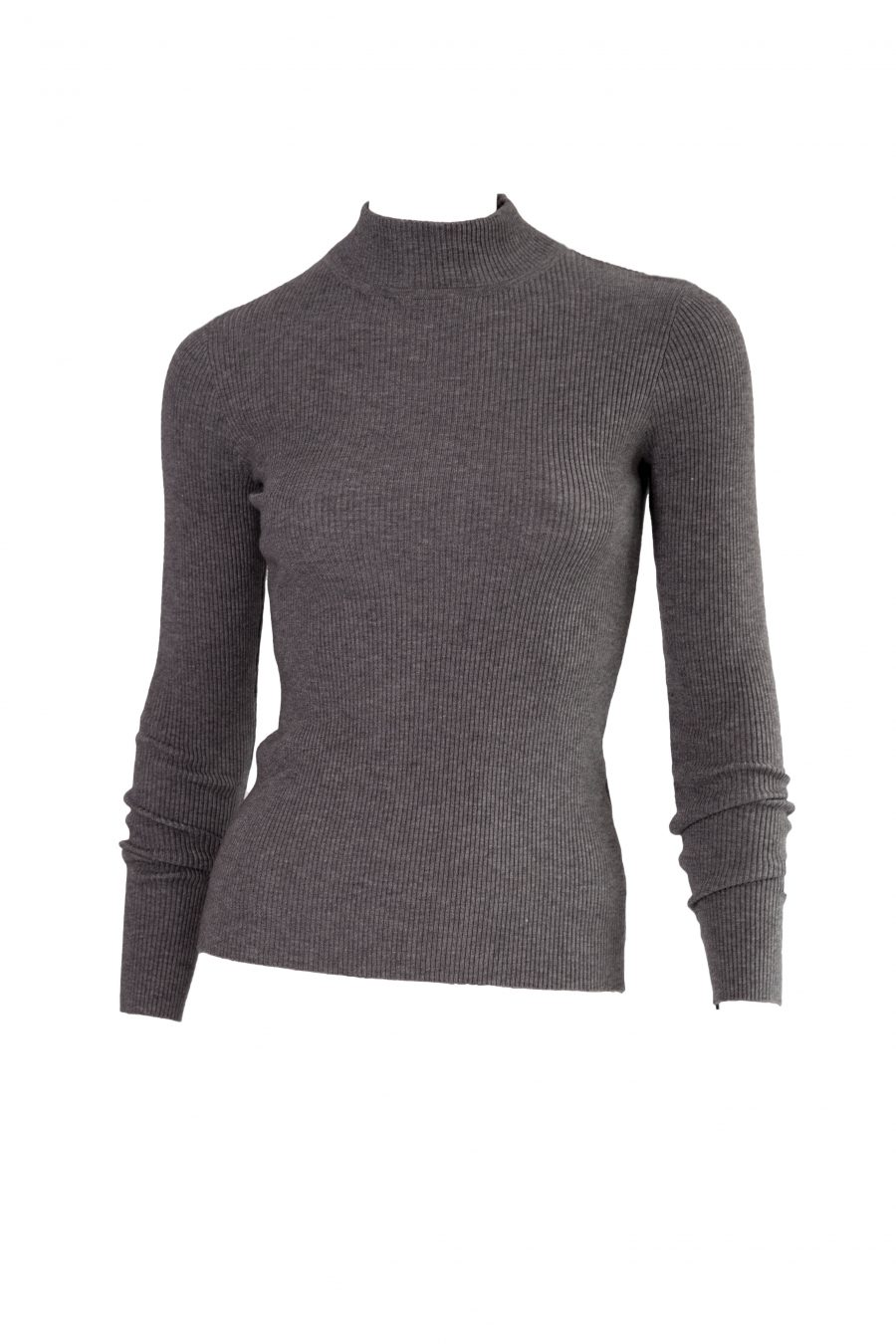 Grey Turtleneck ribbed top